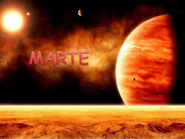 Marte  • Raio: 3.390 km  • Gravidade: 3,711 m/s²  • Massa: 639E21 kg  • Área da superfície: 144.798.500 km²  • Duração do ...