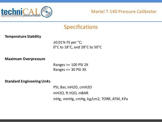 Martel T-140 Pressure Calibrator