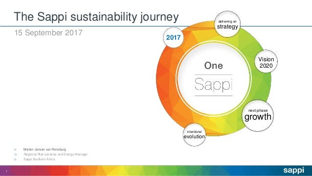 15 September 2017  Regional Risk services and Energy Manager  Merten Jansen van Rensburg  Sappi Southern Africa The Sap...