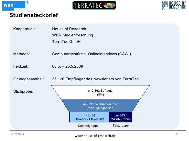 Studiensteckbrief   Kooperation:       House of Research                     WDR Medienforschung                     Terra...