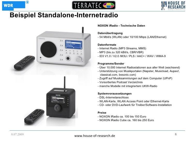 Beispiel Standalone-Internetradio                                 NOXON iRadio - Technische Daten                         ...