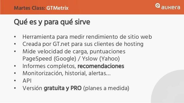 Qué es y para qué sirve • Herramienta para medir rendimiento de sitio web • Creada por GT.net para sus clientes de hosting...