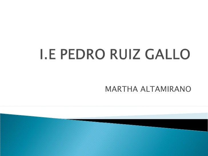 MARTHA ALTAMIRANO
