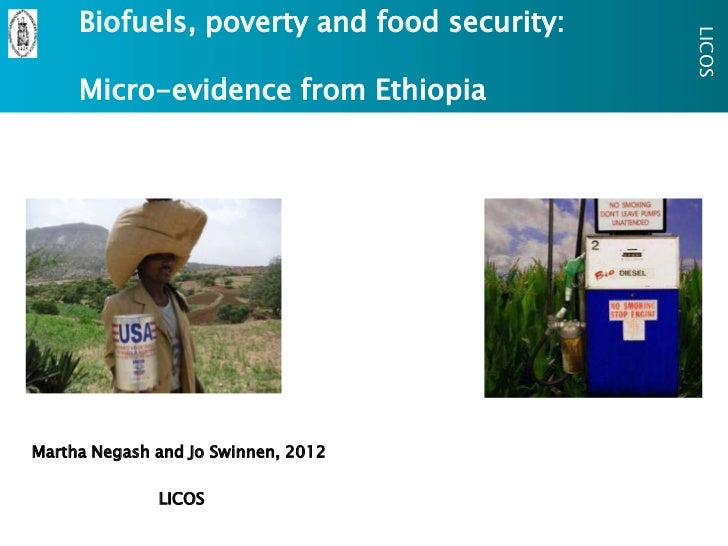 Biofuels, poverty and food security:                                            LICOS     Micro-evidence from EthiopiaMart...
