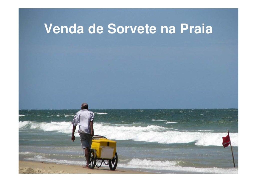 Venda de Sorvete na Praia