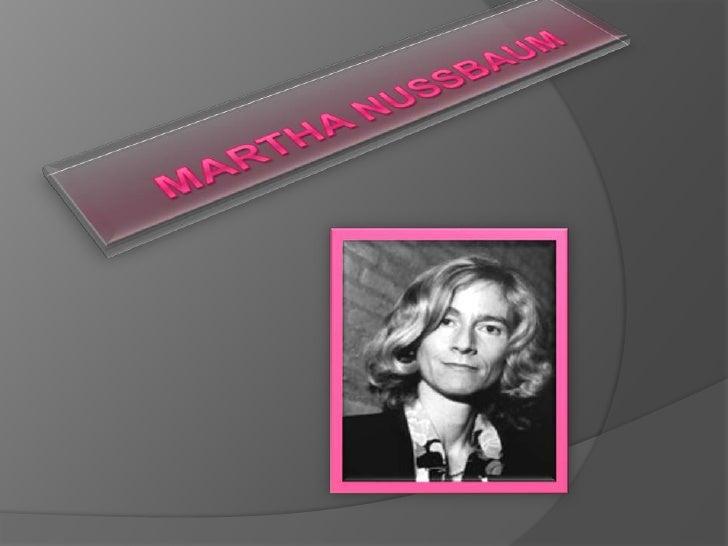 Martha Nussbaum <br />