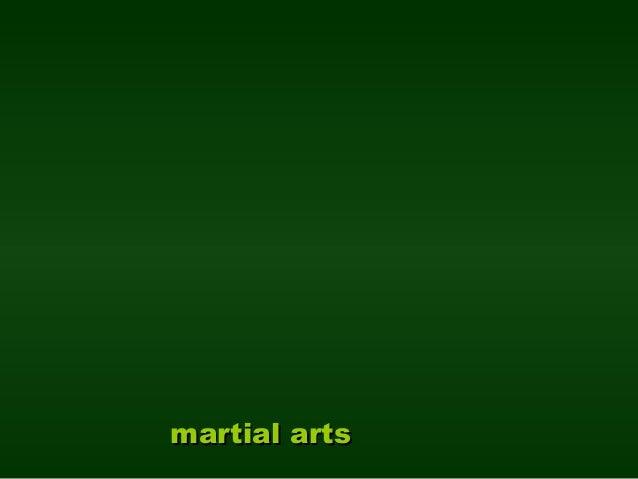 martial artsmartial arts