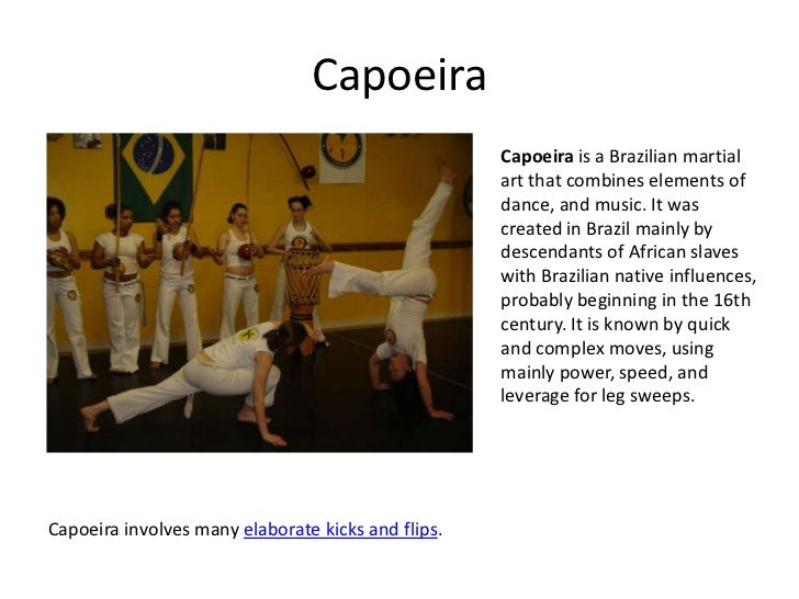 Martial arts capoeira capoeira is a brazilian martial art that combines elements of dance and music it was created in brazil mainly by descendants of african slaves toneelgroepblik Choice Image