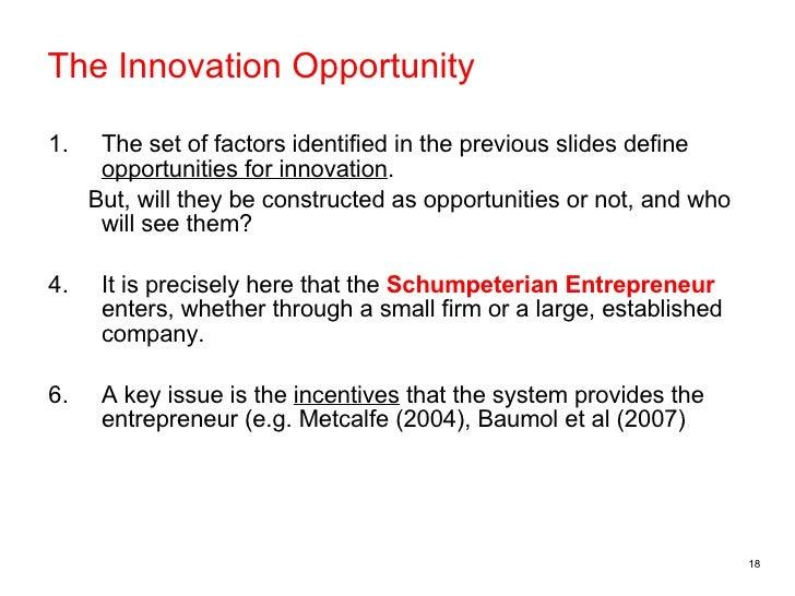 Schumpeterian entrepreneur