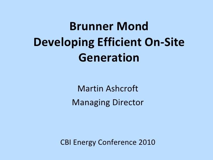 CBI energy conference: Martin Ashcroft