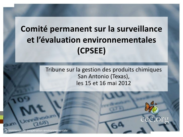 Comité permanent sur la surveillance           et l'évaluation environnementales                         (CPSEE)          ...
