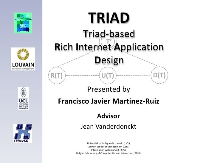 TRIAD         Triad-based              T'  Rich Internet Application            Design R(T)                        U(T)   ...