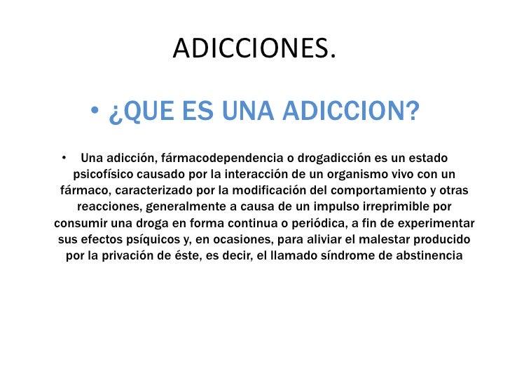 ADICCIONES.