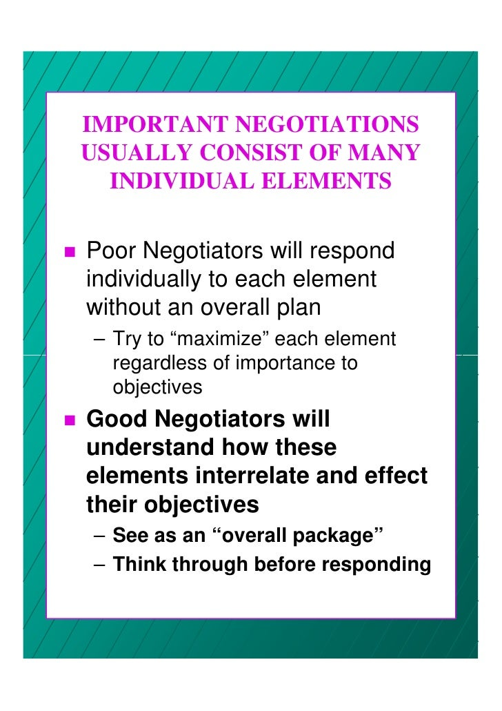 importance of negotiation planning Negotiation advantage: make the first move nano tools for leaders ® are fast, effective leadership tools that you can learn and start using in less than 15 minutes — with the potential to significantly impact your success as a leader and the engagement and productivity of the people you lead.