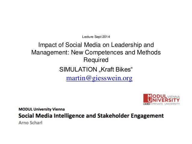 "Lecture Sept 2014 Impact of Social Media on Leadership and Management: New Competences and Methods Required SIMULATION ""Kr..."