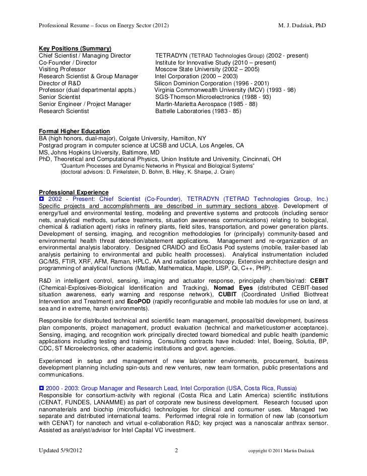 Martinjdudziak Energy Sector Resume May2012