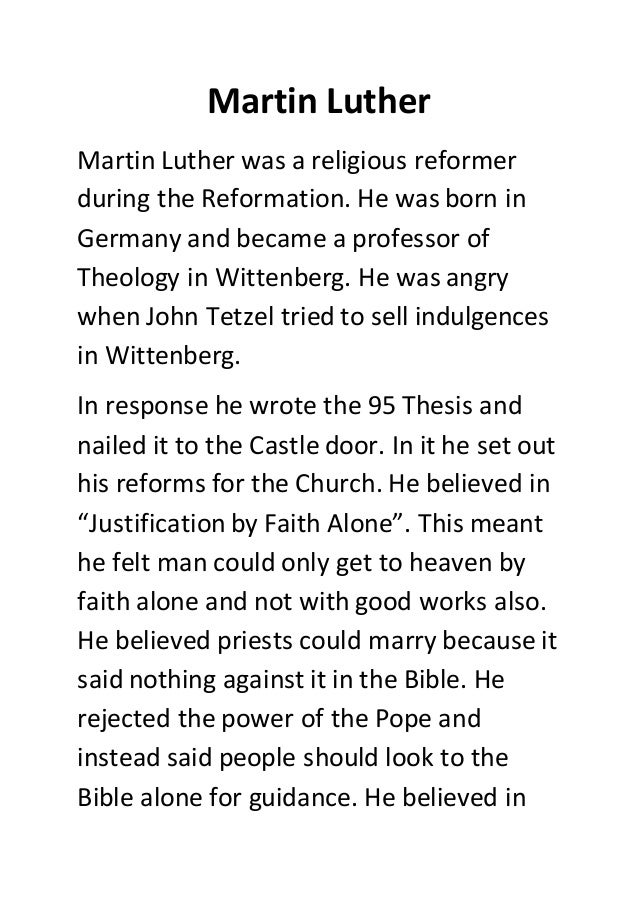 Martin Luther Martin Luther Martin Luther Was A Religious Reformer During The Reformation