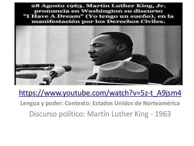 https://www.youtube.com/watch?v=5z-t_A9jsm4  Lengua y poder: Contexto: Estados Unidos de Norteamérica  Discurso político: ...