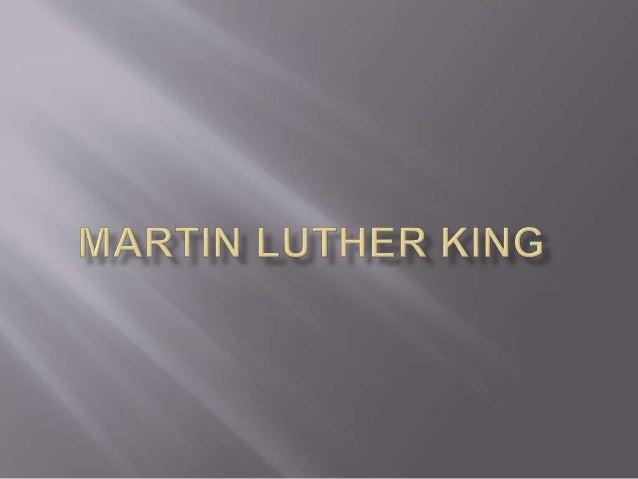  Martin Luther King nasceu em Atlanta (EUA), em 1929. Ainda jovem, aos 19 anos, foi ordenado pastor batista e algum tempo...