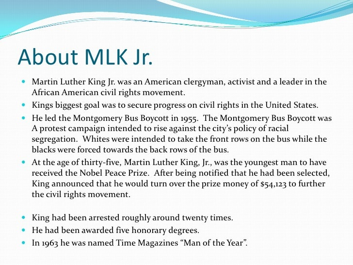 Martin Luther King Jr Slide 2