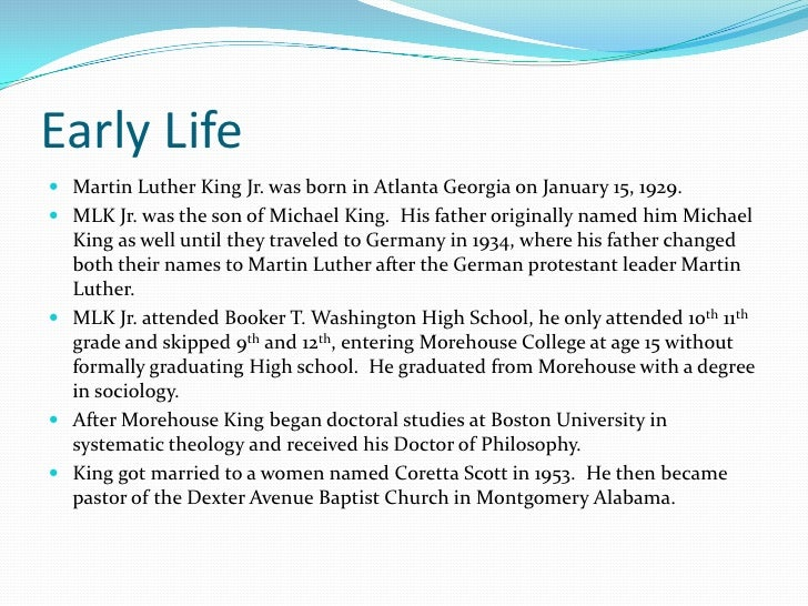 Martin Luther King Jr Slide 3
