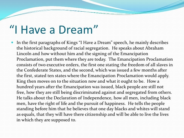 "martin luther king i have a dream speech thesis statement Authorship issues concerning martin luther king, jr center on king delivered his ""i have a dream"" speech at the 1963 ""martin luther king's dream."