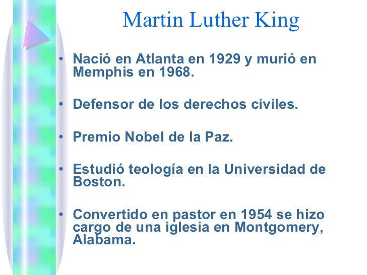 Biografía: Martin luther king Jr Slide 3