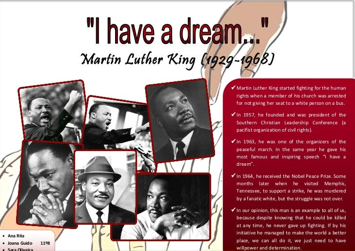 Martin Luther King (1929-1968)                                               Martin Luther King started fighting for the ...