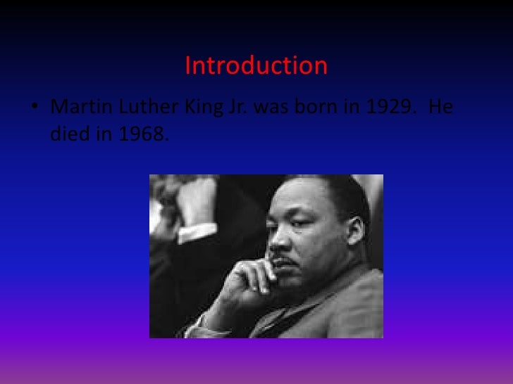 Martin Luther King Jr Slide Show