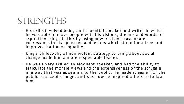 leadership theory of martin luther king King's leadershp and character grade level  how should we describe dr martin luther king,  review your qualities chart to see if martin possessed leadership.