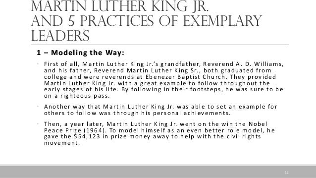 leadership essays on martin luther king jr Leadership of martin luther king jr 3 pages 836 words march 2015 saved essays save your essays here so you can locate them quickly.