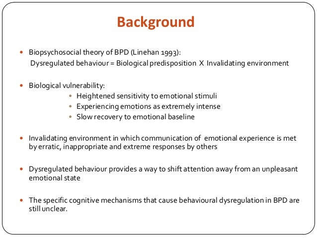 Emotional dysregulation invalidating environment bpd