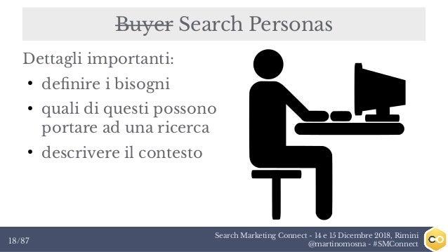 Search Marketing Connect - 14 e 15 Dicembre 2018, Rimini @martinomosna - #SMConnect18/87 Buyer Search Personas Dettagli im...