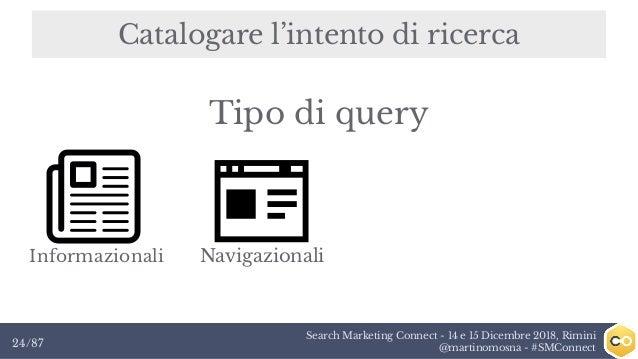 Search Marketing Connect - 14 e 15 Dicembre 2018, Rimini @martinomosna - #SMConnect24/87 Catalogare l'intento di ricerca I...