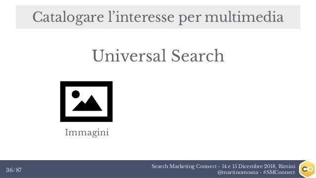Search Marketing Connect - 14 e 15 Dicembre 2018, Rimini @martinomosna - #SMConnect36/87 Catalogare l'interesse per multim...