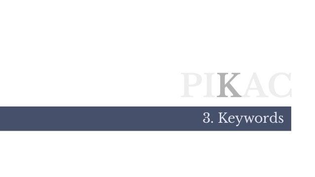 PIKAC 3. Keywords