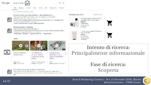 Search Marketing Connect - 14 e 15 Dicembre 2018, Rimini @martinomosna - #SMConnect48/87 Intento di ricerca: Principalment...