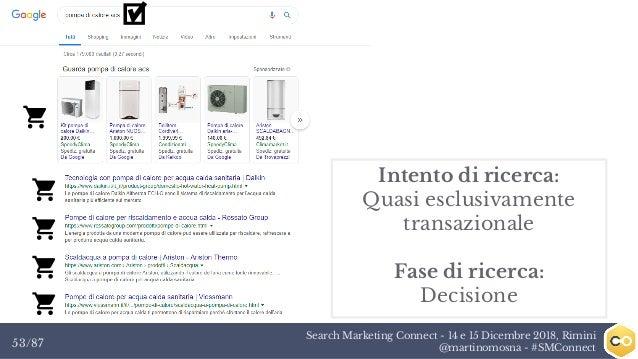 Search Marketing Connect - 14 e 15 Dicembre 2018, Rimini @martinomosna - #SMConnect53/87 Intento di ricerca: Quasi esclusi...