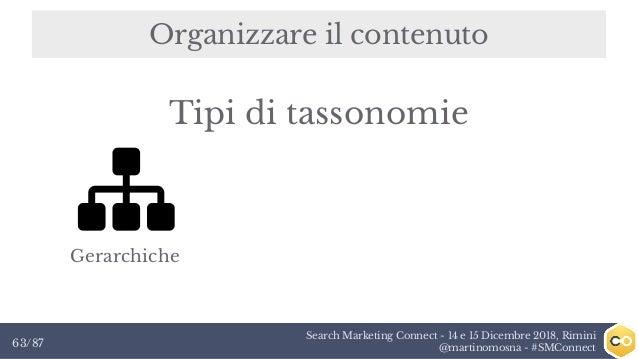 Search Marketing Connect - 14 e 15 Dicembre 2018, Rimini @martinomosna - #SMConnect63/87 Organizzare il contenuto Gerarchi...