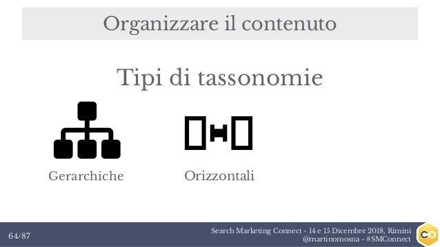 Search Marketing Connect - 14 e 15 Dicembre 2018, Rimini @martinomosna - #SMConnect64/87 Organizzare il contenuto Gerarchi...
