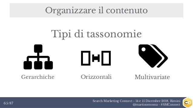 Search Marketing Connect - 14 e 15 Dicembre 2018, Rimini @martinomosna - #SMConnect65/87 Organizzare il contenuto Gerarchi...