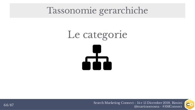 Search Marketing Connect - 14 e 15 Dicembre 2018, Rimini @martinomosna - #SMConnect66/87 Tassonomie gerarchiche Le categor...