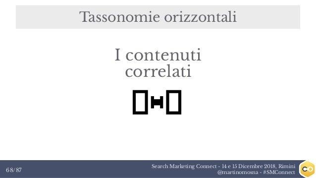 Search Marketing Connect - 14 e 15 Dicembre 2018, Rimini @martinomosna - #SMConnect68/87 Tassonomie orizzontali I contenut...