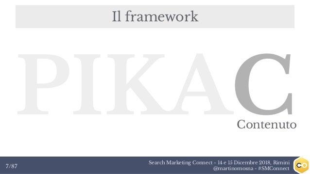 Search Marketing Connect - 14 e 15 Dicembre 2018, Rimini @martinomosna - #SMConnect7/87 Il framework PIKACContenuto
