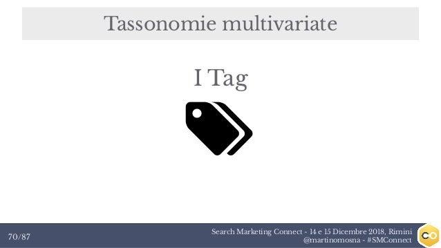 Search Marketing Connect - 14 e 15 Dicembre 2018, Rimini @martinomosna - #SMConnect70/87 Tassonomie multivariate I Tag
