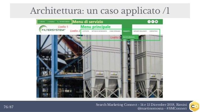 Search Marketing Connect - 14 e 15 Dicembre 2018, Rimini @martinomosna - #SMConnect76/87 Architettura: un caso applicato /1