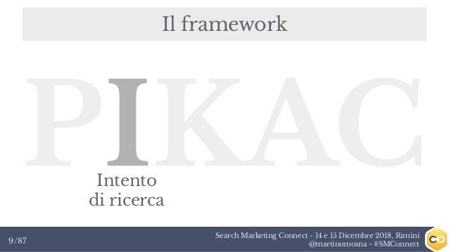 Search Marketing Connect - 14 e 15 Dicembre 2018, Rimini @martinomosna - #SMConnect9/87 Il framework PIKACIntento di ricer...