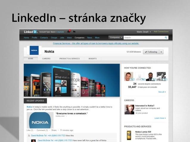 LinkedIn – stránka značky
