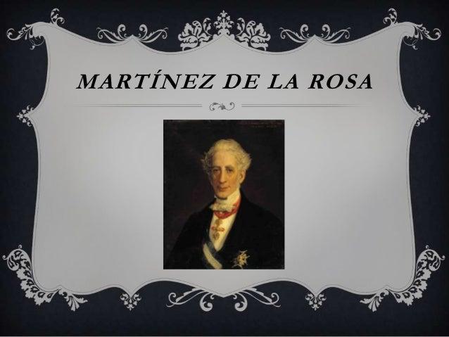 MARTÍNEZ DE LA ROSA