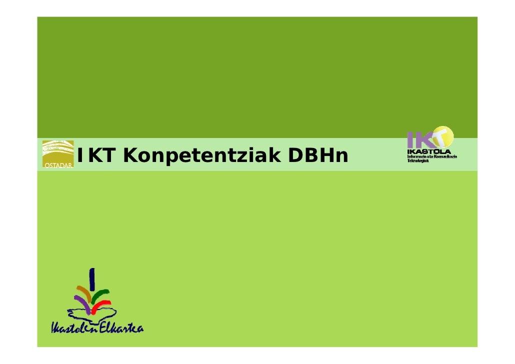 IKT Konpetentziak DBHn
